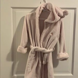 Super soft bear hooded bathrobe